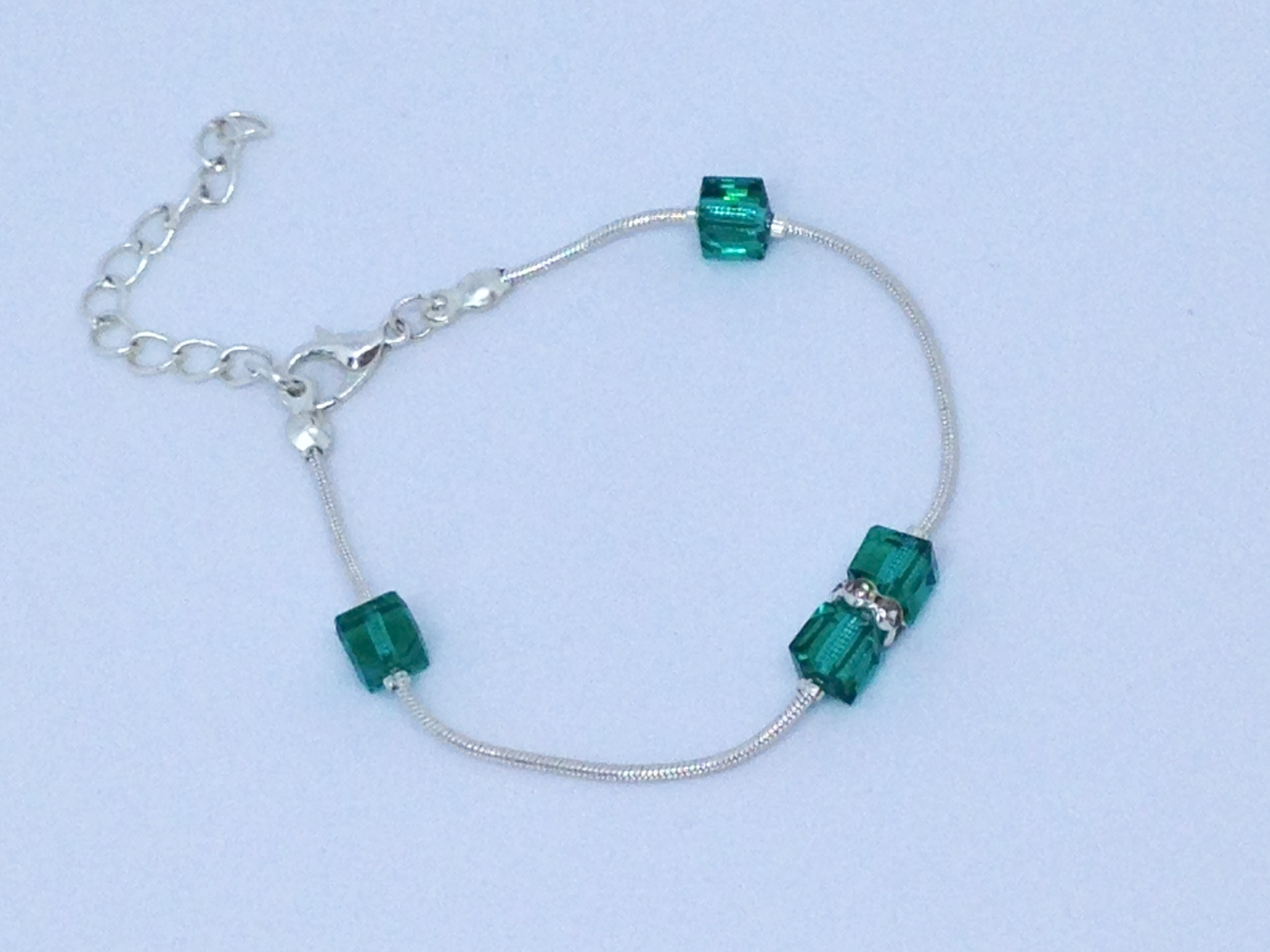 Bracelet brillants verts