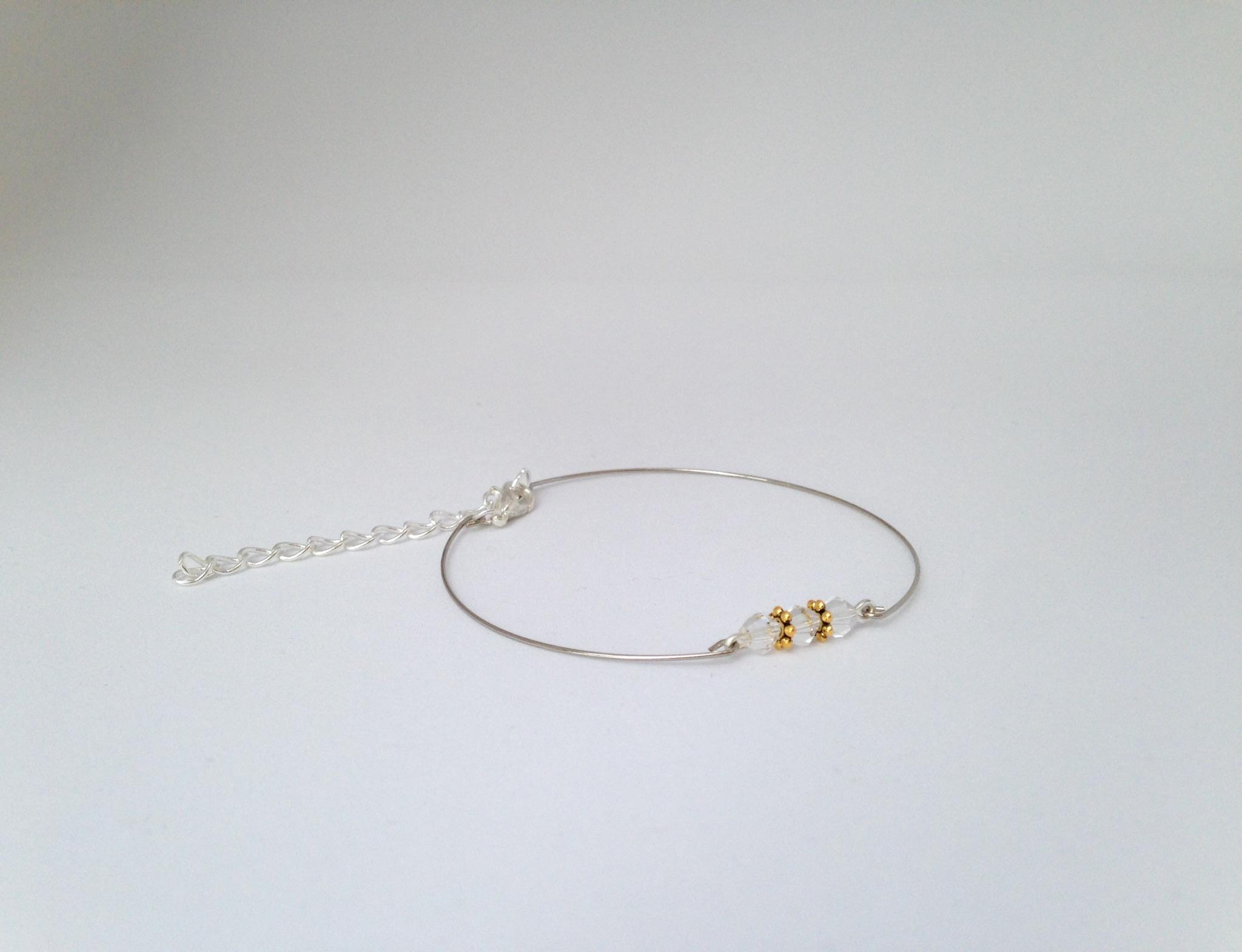 Bracelet transparent et or