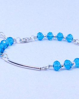 Bracelet pas cher et élégant - bleu cristal