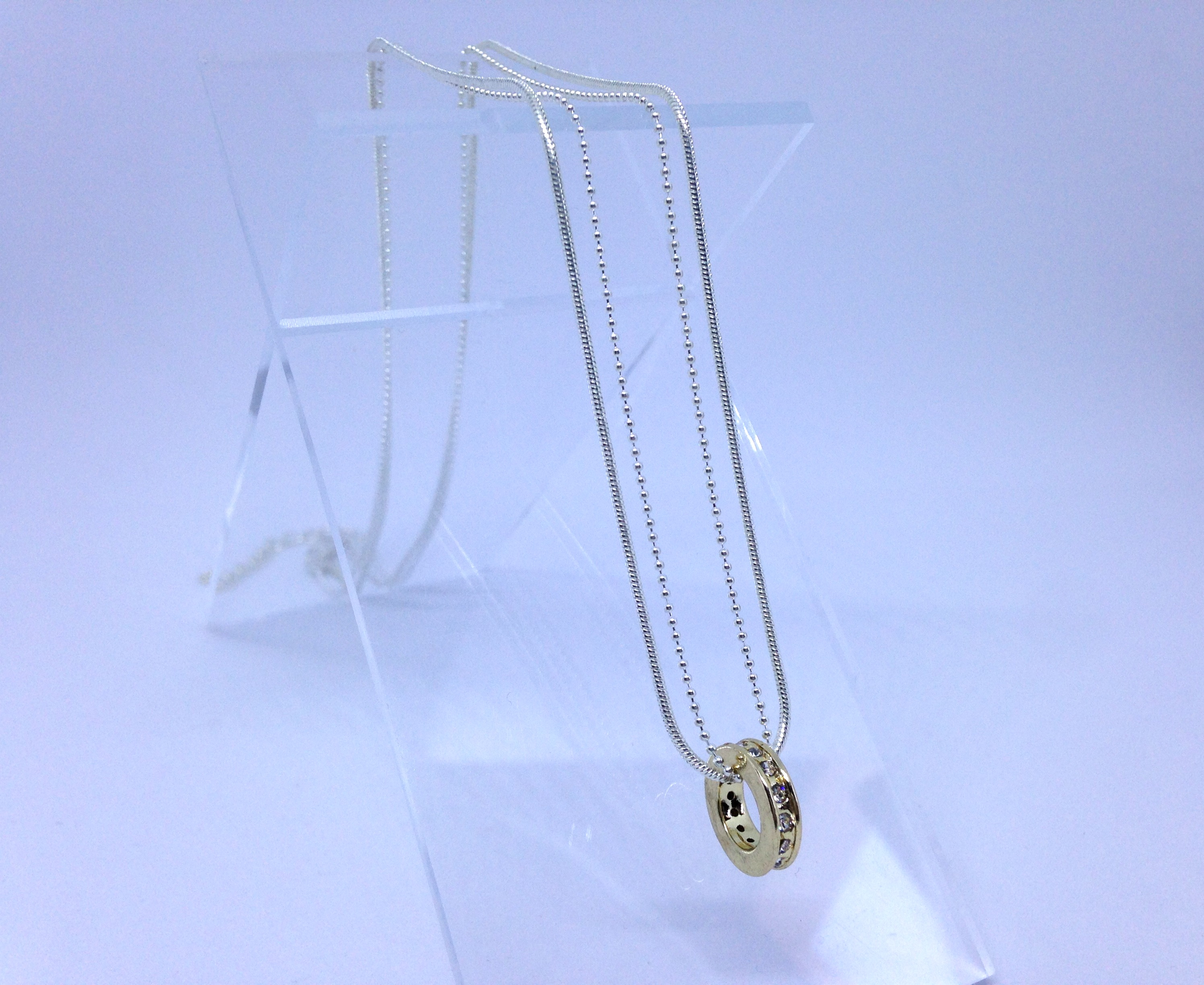 Bijou de créateur petit budget - collier double chaine doré