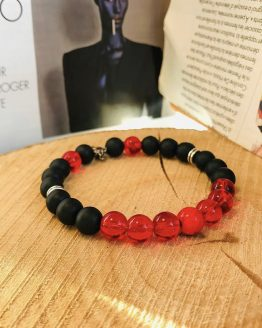 Bracelet rouge et noir reden