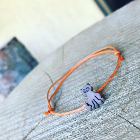 Bracelet chaton brun