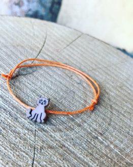 Bracelet chat orange