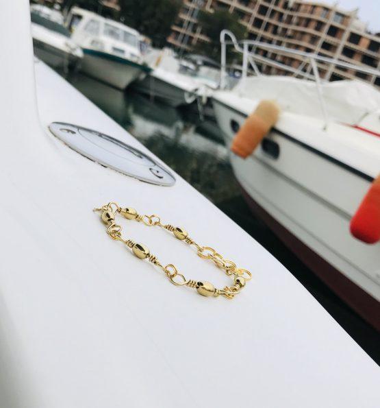 Bracelet unisex de couleur dorée