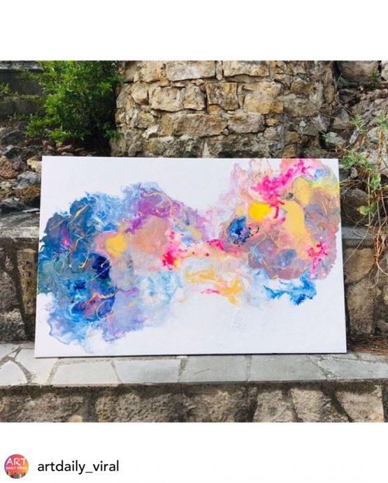 Art abstrait «Confusions florales»