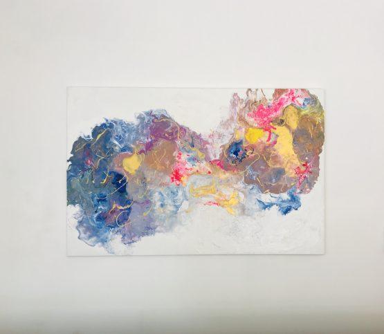 """Peinture abstraite """"Confusions florales"""""""