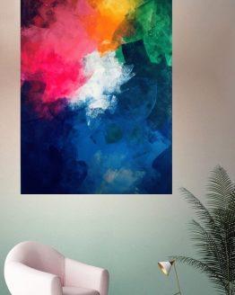Peinture arc-en-ciel abstraite