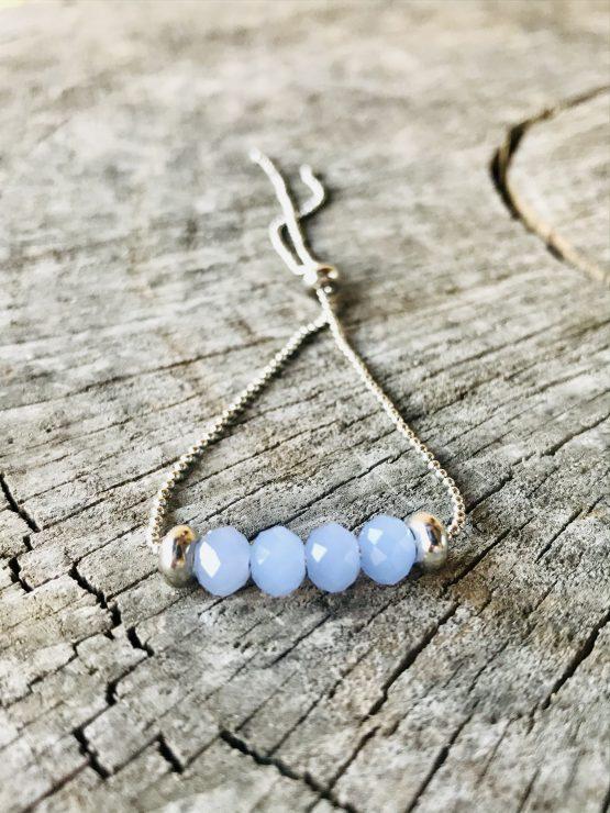 Bracelet Mona bleu pâle mat