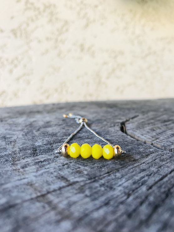Bracelet Mona jaune mat