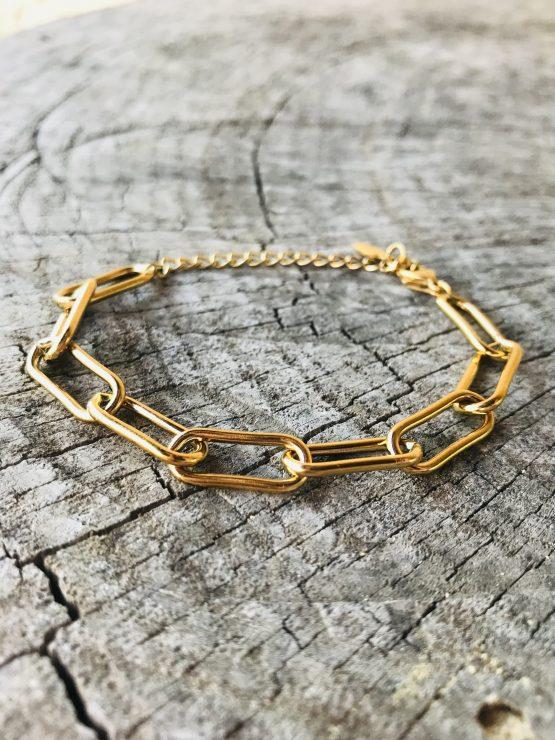 Bracelet en acier inoxydable or - Bracelet Alix